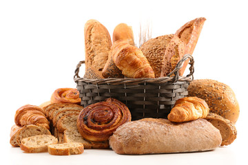 Canvas Prints Bread assorted bread and croissant