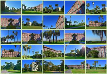 Napoli, Capodimonte, la Reggia e il parco. COLLAGE