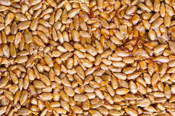 Sunflower seeds in caramel glaze