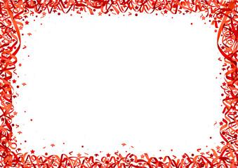 Red Confetti on White Background - Festive Illustration, Vector
