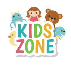 Kids zone banner design.