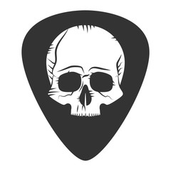 Rock fest badge. Guitar pick. Mediator
