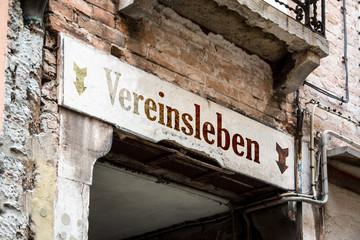 Fototapete - Schild 226 - Vereinsleben