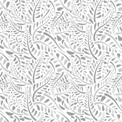 Stylish organic background. Seamless pattern.Vector. スタイリッシュ植物パターン