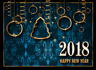 2018 Happy New Year Background for your Seasonal Flyers and Greetings Card