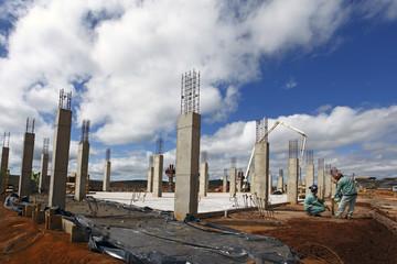 Concrete industrial building