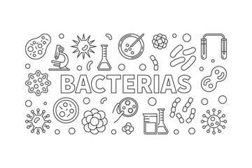 Bacterias horizontal illustration - vector virus and bacteria ba