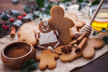 Christmas baking gingerbread honey
