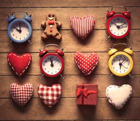 Gingerbread man, heart shape toys