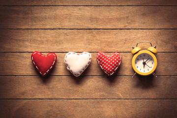 Heart shape toys and alarm clock