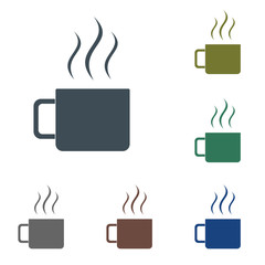Camping cup vector icon
