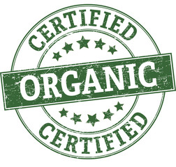 certified organic round stamp