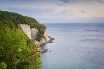 Kreideküste an der Ostsee auf Insel Rügen in Deutschland