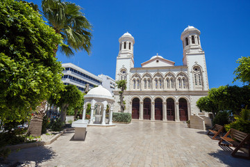 Cathedral Church in the center of Limassol, Cyprus