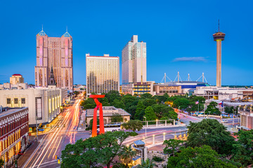 Fototapete - San Antonio, Texas, USA
