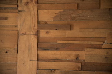 Old wood flooring used wallpaper background