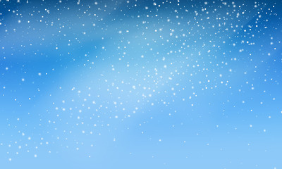Fotomurales - Snow. Vector transparent realistic snow background. Christmas and New Year decoration. Snow blizzard snowstorm background