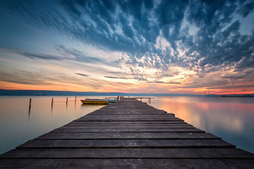 Lake sunset /