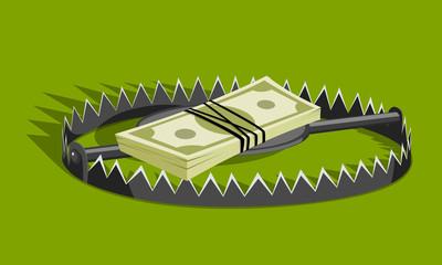Money in bear trap