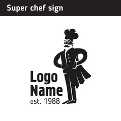 sign super cook in a cap