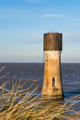 Old Lighthouse and Water Tower at Spurn Point