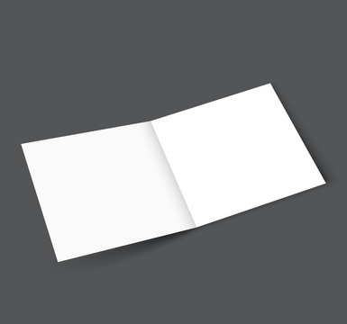 Blank Square tri fold brochure mockup cover template
