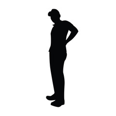 man pose silhouette illustration