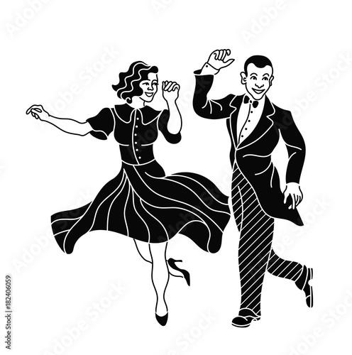 Quot Retro Dance Couple Silhouette Vintage Silhouette Dancer
