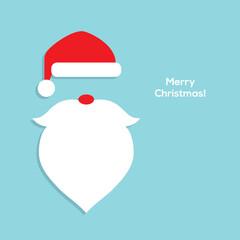 Flat Santa head icon.