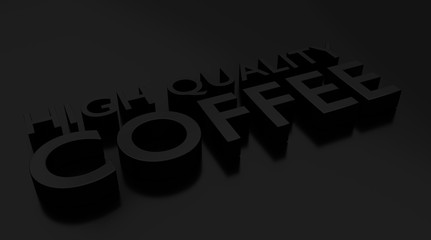 High quality Coffee 3D text