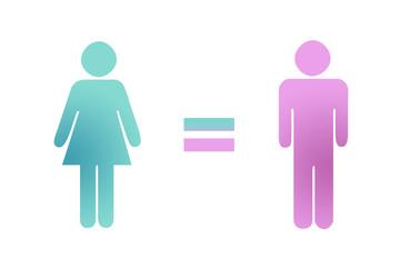 Igualdad de género entre mujeres y hombres.