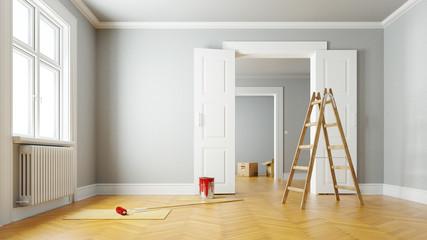 Renovierung einer Wohnung beim Umzug