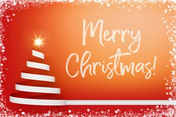 Merry Christmas zu Weihnachten auf Grußkarte