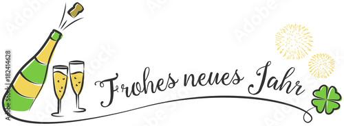 """""""Frohes neues Jahr Vektor Zeichnung mit Sekt und Feuerwerk ..."""