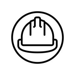 Construction - Hard Hat - (Outline)