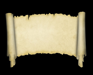 Scroll of old yellowed paper.