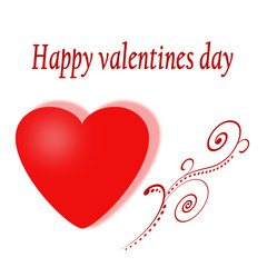 Happy Valentine's day card with two hearts