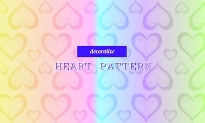 Dekoratives Herz-Muster auf buntem Verlauf