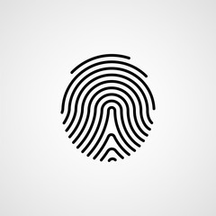 Fingerprint line icon. Vector