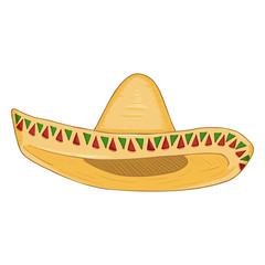 Vector Cartoon Traditional Mexican Hat.