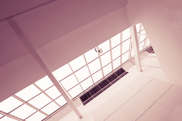 Modern architecture with roof windows.