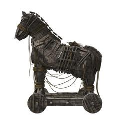 Trojan Horse Isolated on White Background