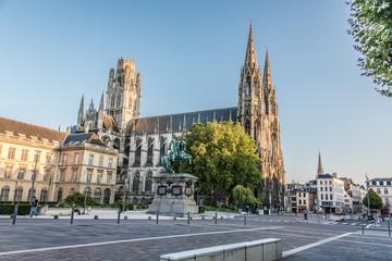 Rouen et l'Abbaye de Saint Ouen Fototapete