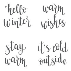 Christmas/New Year/winter lettering
