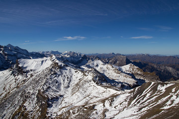Snow-capped Swiss Alps