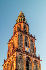 The famous Martinitoren church tower in Groningen