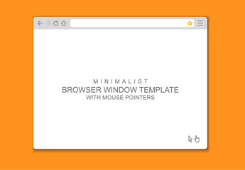 Vector Browser Window Mockup