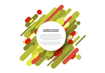Abstract Red and Green Splatter Pattern Flyer Layout