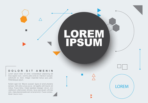 Light Blue Flyer Layout with Large Dark Gray Text Area