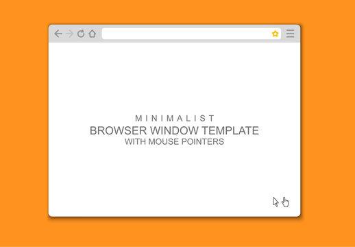 Vector Browser Window Mockup